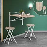Wall Mounted Bar Table Amazon Com Industrial Rustic Wall Mounted Drop Leaf Table Dining