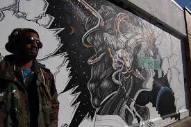 Mural Artist by Glimpse The Future With Nfk Mural Artist Khalil Riddick