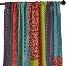 Sari Fabric Curtains Sari Patchwork Curtain Pier 1 Imports