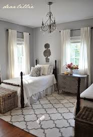 Black And Grey Bedroom Curtains Decorating The Beds In A Guest Room Dear Lillie Diy Home Decor