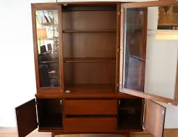 mid century modern china cabinet hutch 5 picked vintage