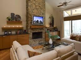 living room ideas modern black wood large cabinet shelves lamps