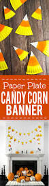 easy paper plate candy corn banner tutorial diy halloween candy