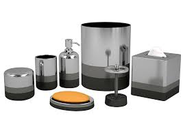 valuable idea grey bathroom accessories set sets with also home