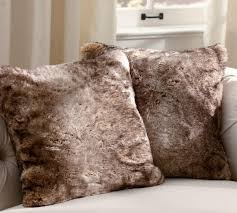 Pottery Barn Fur Blanket Faux Fur Pillow Cover Caramel Ombre Pottery Barn