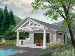 Cabana Plans With Bathroom Pool House Plans And Cabana Plans The Garage Plan Shop