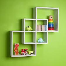 Decorative Shelves For Walls Amazon Com Intersecting Squares Decorative White Wall Shelf Home