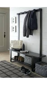 entryway hall tree coat hanger with storage bench entryway hall
