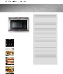 electrolux microwave oven e30mo65gss user guide manualsonline com