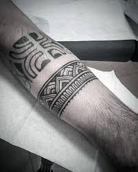 50 forearm band tattoos for men masculine design ideas