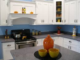 Kitchen Colours With White Cabinets Exellent Blue Kitchen Paint Colors And Wood Cabinets Brass