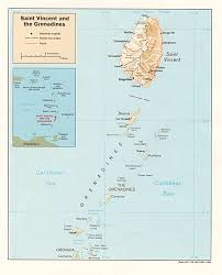 Us Relief Map Saint Vincent And The Grenadines Shaded Relief Map