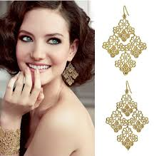 gold chandelier earrings gold tone filigree chandelier earrings wholesale yiwuproducts