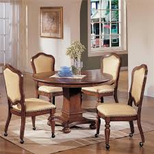 cramco inc timber lane faran round game table and caster chair