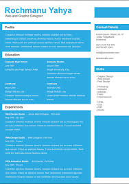 Single Page Resume Template Top 10 Free Resume Templates For Web Designers