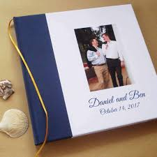 wedding photo album books won custom lgbt wedding guest book wedding