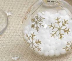snowflake baubles and place card holder