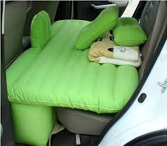 high quality comfortable flocked pvc inflatable car mattress