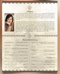 Funeral Program Designs Oriental Style Bi Fold Funeral Program Template Godserv Market