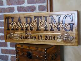 personalized wedding plaque personalized family name signs harley motorcycle bike plaque
