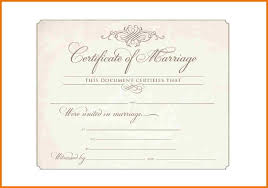 wedding certificate template marriage certificate template the 10