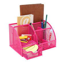 Pink Desk Organizers And Accessories 6 Compartment Desk Organizer Office Supply Caddy Pink Mygift