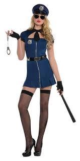 Police Woman Halloween Costume Bad Ladies Fancy Dress Police Woman Uniform Occupation Adults