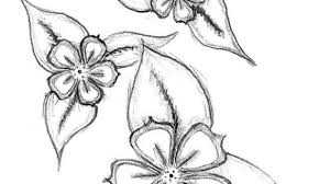 simple flower designs for pencil drawing rose flower tattoo