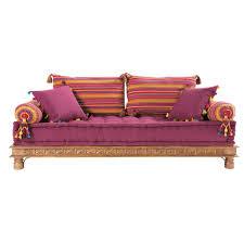 sofa bunt 2 3 sitzer polsterbank aus baumwolle im indischen stil bunt