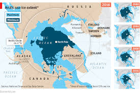 World Map Of Seas by The Decline Of Arctic Sea Ice