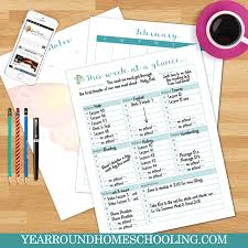 The Essential Year Round Homeschooling Planner Year Round