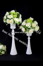 Tall Metal Vases For Wedding Centerpieces by Gold Trumpet Metal Vase For Wholesale Tall Stem Metal Trumpet Vase
