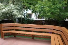 Decks With Benches Built In Image Gallery Outdoor Deck Seating