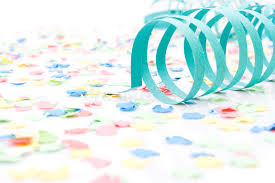 paper ribbons colourful party paper ribbons and confetti royalty free stock