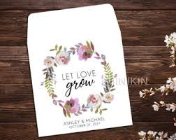 seed packets wedding favors wedding seed packets etsy