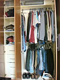 small closet design ideas with with style metal rod shirt hanger