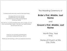 wedding program templates free catholic wedding program template free cookout info