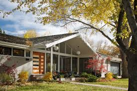 mid century modern exterior midcentury with grass person standard
