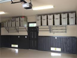 furniture overhead garage organisation with wall metal rack and