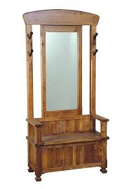 sd 2537ro sedona rustic oak hall tree with mirror u0026 bench w storage