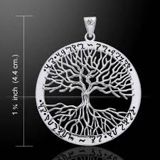 wiccan tree of pendant in 925 sterling silver mickie