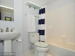 Blue And White Bathroom by Traditional Full Bathroom With Limestone Tile Floors U0026 Tiled Wall