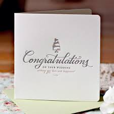letterpress congratulations on your wedding card buy wedding