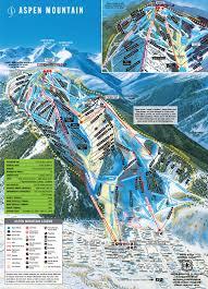Colorado Ski Area Map by Aspen Mountain Ski Area Trail Map Aspen Snowmass Real Estate