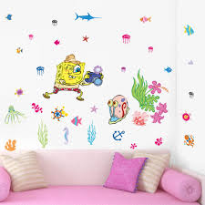 Spongebob Room Decor by Spongebob Wall Stickers Nursery Girls Room Wall Decals