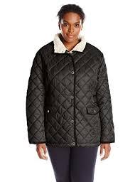 Plus Size Quilted Barn Jacket Nautica Women U0027s Plus Size Diamond Quilted Barn Jacket Amazon Co