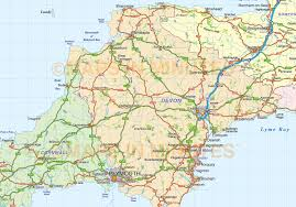 Cornwall England Map by South West England County Road And Rail Map At 1m Scale In