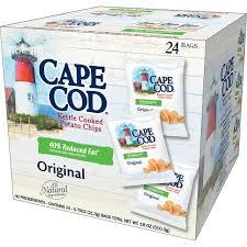 cape cod kettle cooked potato chips original 0 75 oz 24 ct