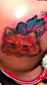 cat with butterfly http tattootodesign com cat