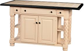 amish roseburg island with two drawers and two doors turned leg kitchen island with two doors and three drawers